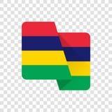 毛里求斯-国旗 皇族释放例证