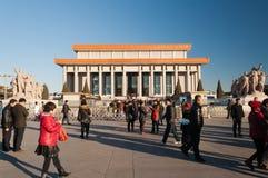 毛主席纪念堂霍尔(毛泽东陵墓)。北京。C 免版税库存图片