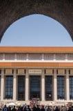 毛主席纪念堂霍尔 库存照片