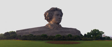 毛主席雕象在长沙,中国 免版税库存图片