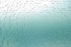 毛玻璃深蓝颜色, 3d块样式 免版税库存照片