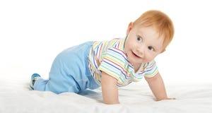 毯子的可爱的男婴 库存照片