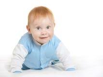 毯子的可爱的男婴 库存图片
