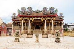 氏族全部巨大khoo kong庄严si寺庙 免版税库存图片