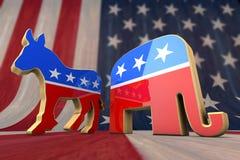 民主党和共和党人 库存图片