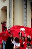 民主纪念碑红色星期天 免版税库存照片