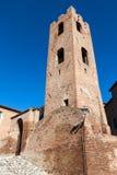 民事塔在longiano的Malatesta堡垒 库存照片