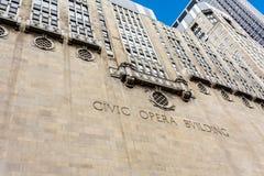 民事歌剧大厦在芝加哥 免版税库存照片