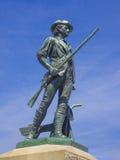 民兵雕象,一致, MA 美国 免版税库存图片