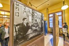 移民博物馆内部看法  免版税库存照片
