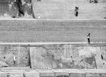 民工,移动的岩石,瑞诗凯诗,印度 免版税库存图片