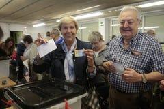 民意测验驻地独立公民投票在巴塞罗那 库存照片