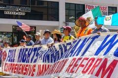 移民改革集会在美国 免版税库存图片
