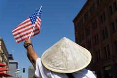 移民改革集会在美国 图库摄影
