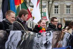 民族主义的集会维尔纽斯 免版税库存图片