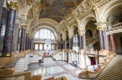民族志学博物馆内部在布达佩斯,匈牙利 免版税库存照片