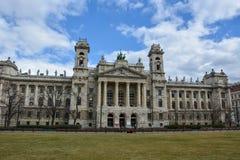 民族志学博物馆在布达佩斯,有蓝天的匈牙利 图库摄影
