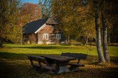 民族志学宅基在拉脱维亚 免版税库存照片