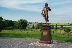 民族英雄塔德乌什・柯斯丘什科雕塑在Merechevshchina,在Kossovo市附近,布雷斯特地区,白俄罗斯 免版税图库摄影