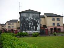 民权墙壁上在Derry 图库摄影