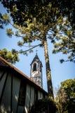 移民村庄公园& x28的教会; Parque Aldeia做Imigrante& x29;-新星Petropolis,南里奥格兰德州,巴西 图库摄影
