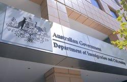 移民澳大利亚的部门 免版税库存照片