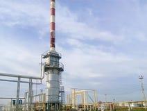 民用燃料油的熔炉在精炼厂 免版税图库摄影