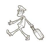 民用航空公司飞行员 免版税库存图片