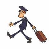 民用航空公司飞行员 免版税库存照片