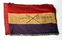 民用西班牙战争 Banderin 31分部133混杂的旅团 库存照片
