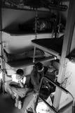 民用铁路支架在印度的迈索尔 库存照片