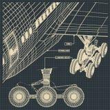 民用飞机图画的片段 免版税库存图片