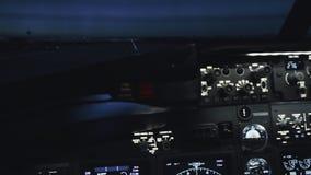民用飞机客舱在起飞前的 股票视频