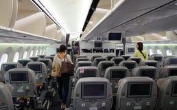 民用飞机的人们 免版税库存图片