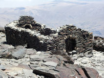 民用mulhacen废墟西班牙语战争 免版税库存图片