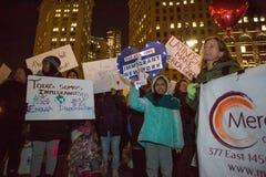 移民的NY集会 免版税库存图片