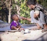 贫民窟印度– Dharamshala。 免版税图库摄影