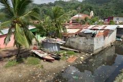 贫民窟在Portobelo巴拿马 免版税图库摄影