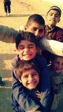 贫民窟的孩子 库存照片