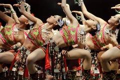 民间中国的舞蹈演员 库存照片