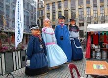 民间传说节日在布鲁塞尔 库存图片