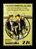 民间传说-在老傻瓜,澳大利亚民间传说serie的Stror,大约1983年 免版税库存照片