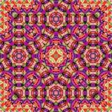 民间印地安地毯样式装饰品,传统刺绣 库存图片