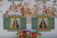 民间艺术在米滕瓦尔德 免版税图库摄影