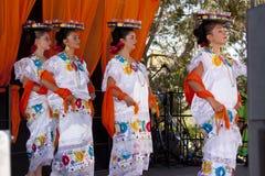 民间艺术市场在Santa Fe,新的Mex每年暂挂了 免版税图库摄影