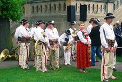 民间乐队在圣Stanislaus天 免版税库存照片