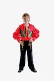 民间传统狂欢节服装 免版税图库摄影