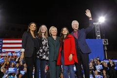民主党总统候选人希拉里・克林顿竞选在拉斯维加斯,内华达 库存图片