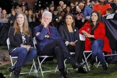 民主党总统候选人希拉里・克林顿竞选在拉斯维加斯,内华达 免版税库存照片