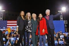 民主党总统候选人希拉里・克林顿竞选在拉斯维加斯,内华达 免版税库存图片